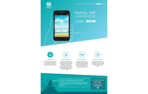 marketing app landing page